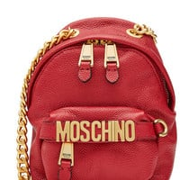 Leather Shoulder Bag - Moschino | WOMEN | US STYLEBOP.COM