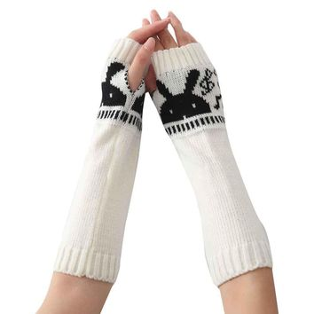 Gloves Warm Autumn Winter Jacket Special Knitted Arm Sleeve Fingerless Gloves