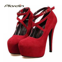 New Arrive High-Heeled Shoes Woman Pumps Wedding/Party Shoes Platform Fashion Women Shoes Red Bottom High Heels 11cm Suede
