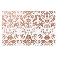"KESS Original ""Baroque Rose Gold"" Abstract Floral Decorative Door Mat"