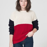 rsakwfpcbw - Unisex Color Block Fishermans Pullover