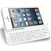 Sliding Bluetooth Wireless Keyboard Case Cover for Iphone 4/4s/5