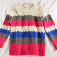 """~~~ EYE CANDY! ~~~ MARC BY MARC JACOBS MULTICOLOR """"NIKOLAI"""" KNIT SWEATER ~~~ S/M"""
