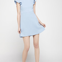 Women's BCBGeneration Fit and Flare Dress with Flutter Sleeves