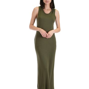 Lyss Loo Ascension Contemporary Olive Hooded Maxi Dress