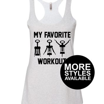 My Favorite Workout, Funny Graphic Tee