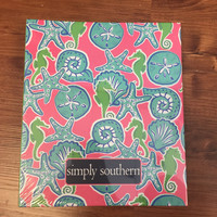 Simply Southern Notebook with Paper- Seahorses