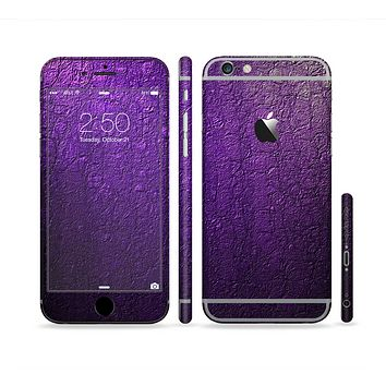 The Purpled Crackled Pattern Sectioned Skin Series for the Apple iPhone 6
