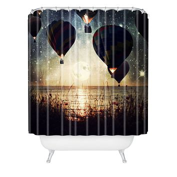 Belle13 Lighting The Night Shower Curtain