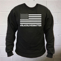 Black Lives Matter Crewneck Sweatshirt   Supporting Justice and Equality for African Americans