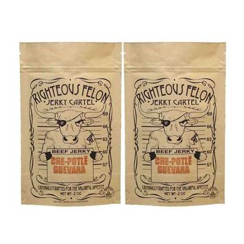 2 Pack Che-Potle Guevara Beef Jerky by Righteous Felon 2 oz
