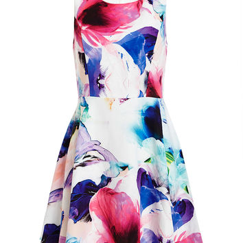 Romance Floral Dress - Bardot