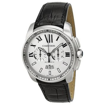 Cartier W7100046 Calibre de Cartier Men's Chronograph Automatic Watch
