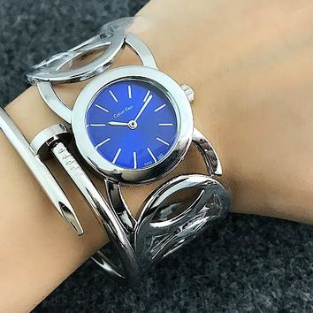 CK Calvin Klein Woman Men Fashion Print Watch Business Watches Wrist Watch White Watch Dial G-Fushida-8899