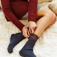 Solid Thermal Stitch Boot Sock
