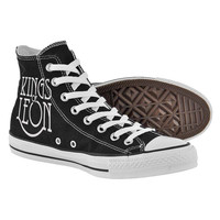 Kings of leon,High Top,canvas shoes,Painted Shoes,Special Christmas Gift,Birthday gift,Men Shoes,Women Shoes