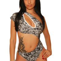 New Digital Camouflage Bodysuit Clubwear