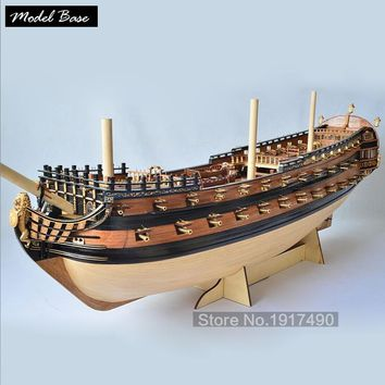 Wooden Ship Models Kits3d Laser Cut Scale 1/50 Model-Ship-Assembly A New Version Of Peter The Great's Flagship Ship Model Set