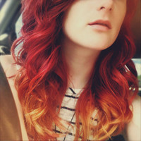 SALE Girl on Fire HUMAN Hair Full lace by UndergroundAquarium