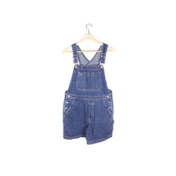 vintage GAP denim overalls - 90s / 1990s - overall shorts - womens medium