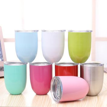 Stainless Steel Wine Glass Insulated Metal Goblet Tumbler Mugs Cup for Kitchen Bar Party 51AN58002