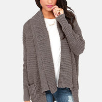 Cardi Party Grey Cardigan Sweater