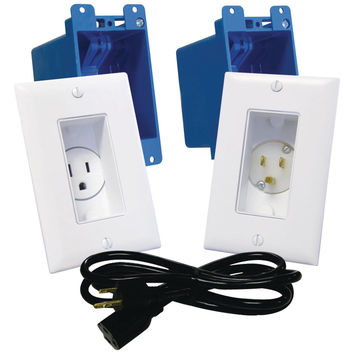 Midlite Decor Recessed Receptacle & Power Inlet Kit (white)