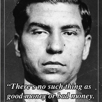 motivational quote poster LUCKY LUCIANO american mobster 24X36 humorous NEW
