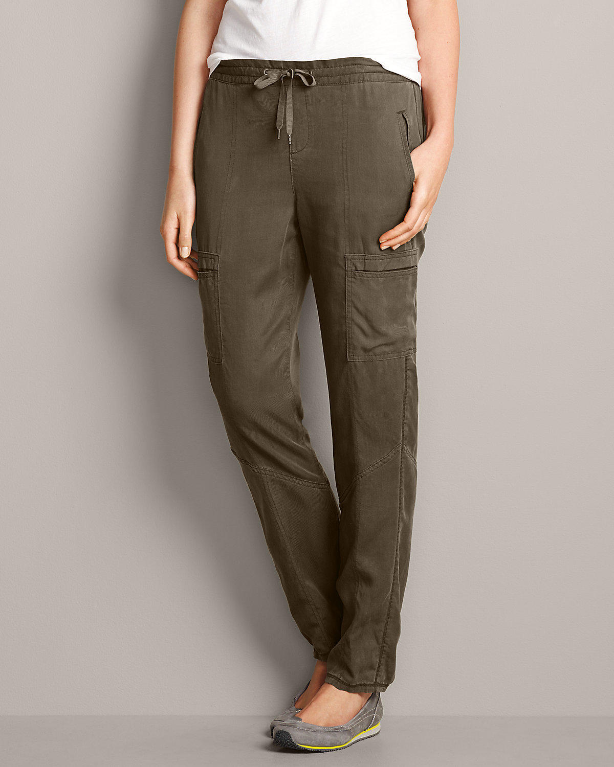 Wonderful LADIES CARGO JOGGER PANTS  CAMO OLIVE