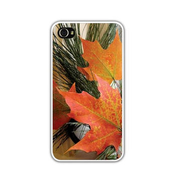 Autumn Leaves iPhone 4/4s or 5 Case/Cover,  Orange Maple Leaves, Photograph, Take A Peek At Peak Foliage Everyday, Time Calls For Fall
