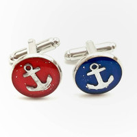 Anchor Cufflinks / nautical wedding accessories / wedding cufflinks / men's suit / nautical cufflinks / men's anchor jewelry / Father's day