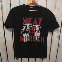 Meat Is Murder T-Shirt, Size Small