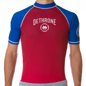 RASH GUARD - Red/Blue