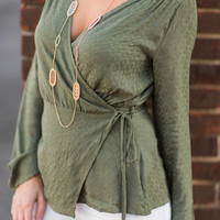 Live And Lovely Top, Olive