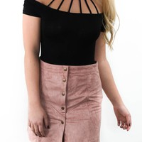 Cross My Heart Dusty Rose Mini Skirt
