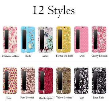 2 in 1 Hybrid 360 Phone Cases For iphone 7 6 6s Plus Funda 3D Embossed Pattern Couqe Ultra Thin Full Protective Shell Back Cover