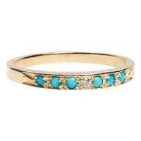 MOCIUN 'Moon & Stars' Single Band Turquoise & Diamond Ring | Nordstrom