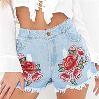 Fashion Pants  shorts Women  flower