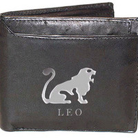 Leo Sign Leather Wallets