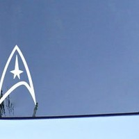 "Bargain Max Star Trek Federation Logo Sticker Decal Notebook Car Laptop 5.5"" (White)"
