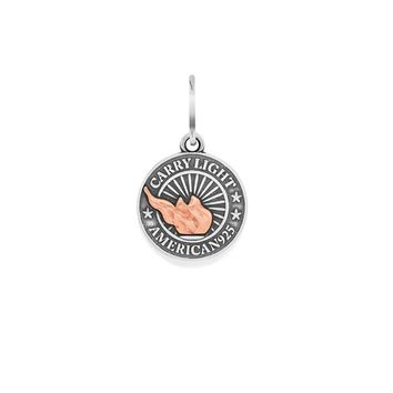 Small LIBERTY COPPER CARRY LIGHT™ Necklace Charm