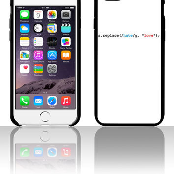 replace hate with love 5 5s 6 6plus phone cases