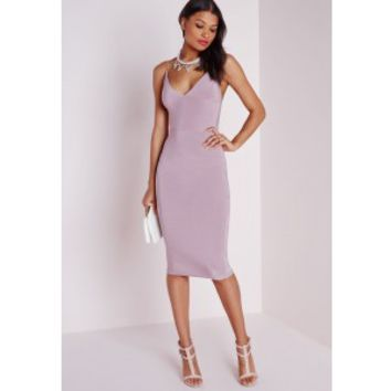 Missguided - Slinky Midi Dress Mauve