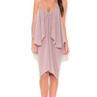 Love Song Draped Front Dress