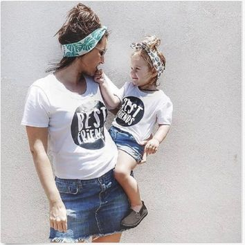 64ae510434 Mama Mother Son Outfits Brother Bestfriends T Shirt Mommy and Me