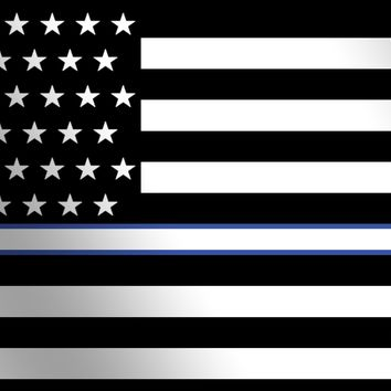 Thin White Line American Flag License Plate