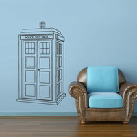 Wall Decal Vinyl Sticker Decals Bedroom Dorm Art Decor Doctor WHo Tardis Police Box (z2651)