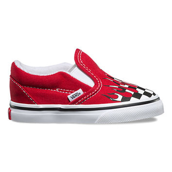 Toddler Checker Flame Slip-On | Shop At Vans