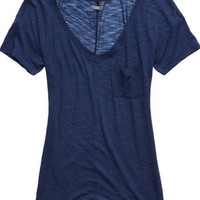Aerie Women's Slim Fit V-neck Pocket T-shirt