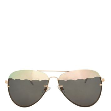 Stripe Lens Arnie Aviator Sunglasses